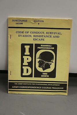 US Military IPD Conduct Survival, Evasion, Resistance, & Escape Book, Edition 8