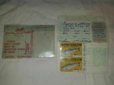 CALIFORNIA SPORT FISHING License 1967 American Brown Trout Stamps