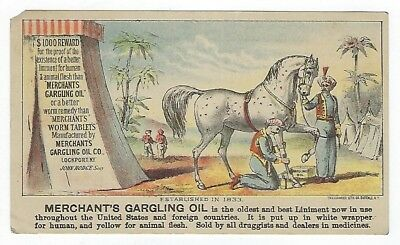 Merchant's Gargling Oil late 1800's medicine trade card variation #C (of four)