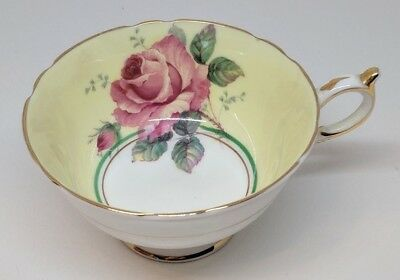 Vintage Paragon Fine Bone China Large Rose Cup Appointment HM The Queen Mary