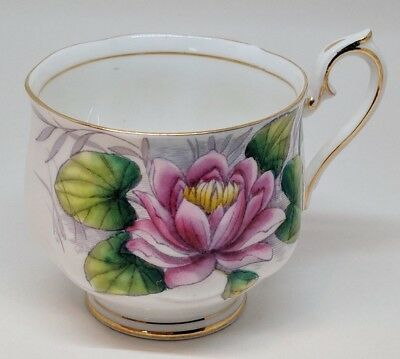 Vintage Royal Albert Bone China Cup Flower of the Month #7 Water Lily England