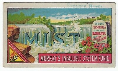 Murray's Infallible System Tonic late 1800's medicine trade card - Indianapolis