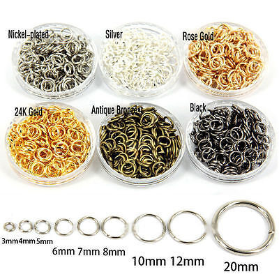 Wholesale Open Jump Rings Connectors Beads 4/5/6/7/8/9/10/12mm Jewelry DIY Lot