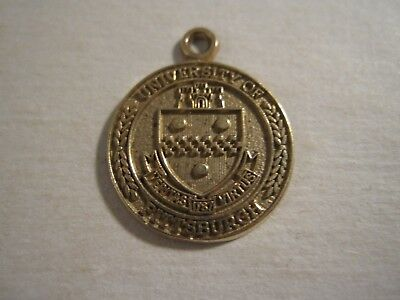 University of Pittsburgh PITT School Crest 10kt gold LogoArt Medallion Pendant