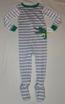 84fdacbf51de NEW~CARTERS TODDLER Boy Blue Baseball Cotton Sleeper Pajamas Size 24 ...
