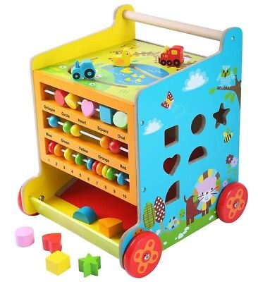 Educational Toy 6 in 1 Activity Maze Cube Baby Toddler Baby Walker