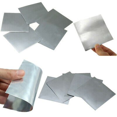 1/5pcs 99.9% High Purity Pure Zinc Zn Sheet Plate Metal Foil for Science Lab New