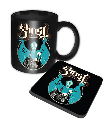 Ghost Mug and Coaster Opus eponymous band logo new official Gift set