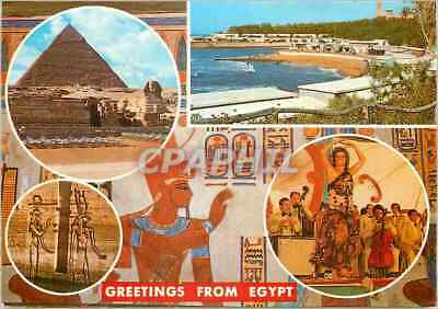 CPM Greetings from Egypt Giza The Pyramid of Kephren and the Sphinx