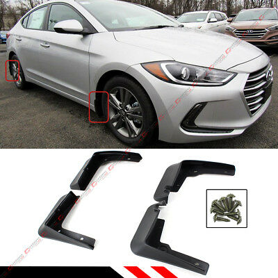 For 2017-2018 Hyundai Elantra Sedan 4 Pcs Front & Rear Splash Guard Mud Flap Set