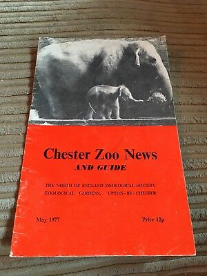 Chester Zoo News 1977 Vintage Zoo Guidebook In Good Condition
