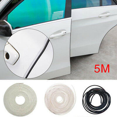 5M Moulding Trim Rubber Strip Car Door Scratch Protector Edge Guard DIY 3Color