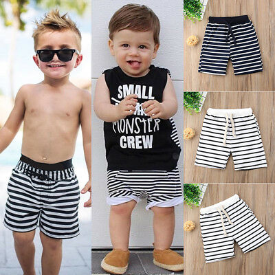 Kids Baby Boy Floral Stripe Beach Shorts Casual Jogger Short Pants Bottoms Sport