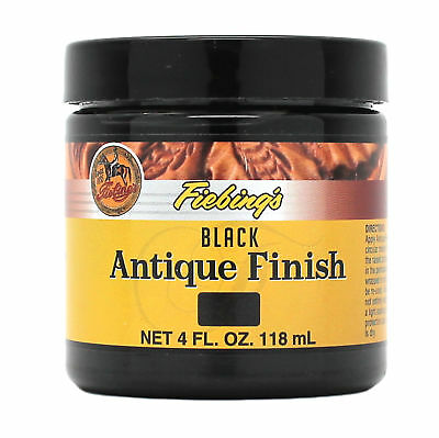 Fiebing's Antique Finish Paste Black 4 oz 21980-00 by Fiebing Leather Dye Stain