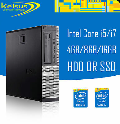 Dell Optiplex SFF Core i3 i5 i7 16GB RAM 2TB HDD SSD Windows 10 Desktop PC