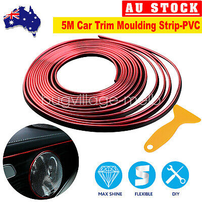 5M Auto Gap Trim Moulding Strip Decorative Line Car Interior Red Christmas Sale