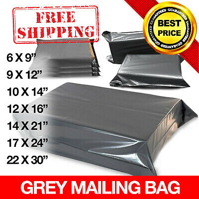 Strong Grey Mailing Bags Poly Postal Postage Post Mail Self Seal All Sizes Cheap