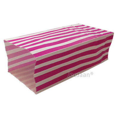50 Red Pick and Mix Paper Bags Candy Stripe Popcorn Party Sweet 10cm x 25cm