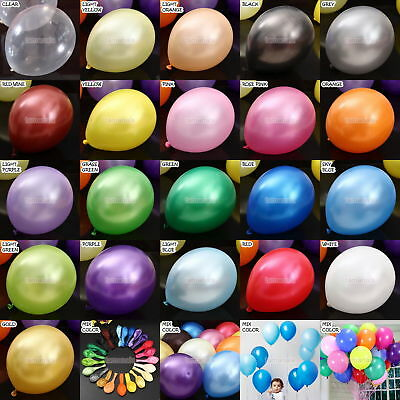 """11"""" METALLIC/Pearlised High Quality LATEX BALLOONS (Decoration/Birthday/Party)"""