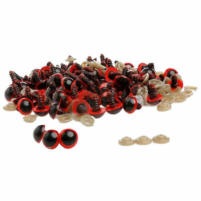 10 pairs of 16mm Red Safety Teddy Bear Eyes. 20 units Washers. Soft Toy FREEPOST