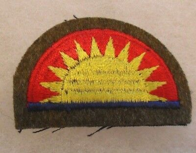 Wwi 41St Infantry Division Studley Style Embroidered On Wool