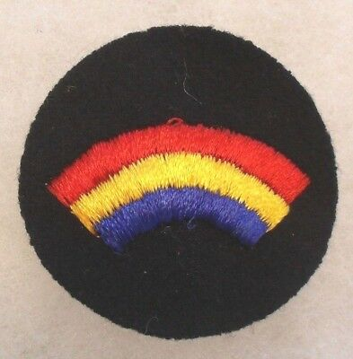 Wwi 42Nd Infantry Division Studley Style Embroidered On Black Felt