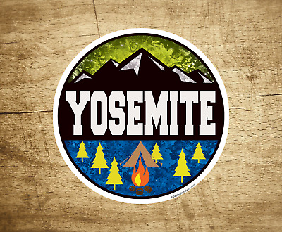 "YOSEMITE NATIONAL PARK California Vinyl Decal 3 "" Sticker Hiking Camping"