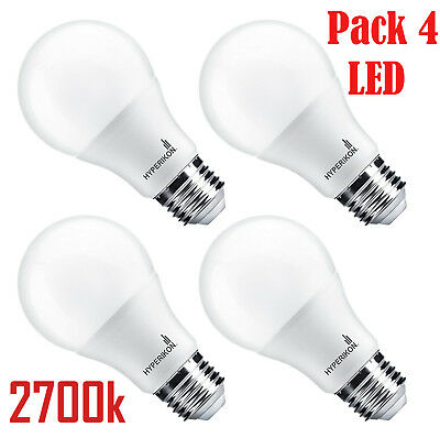 LED BULBS , E27  Edison Light Bulb, 9.5W=60W, Warm White,Non-Dimmable /Pack of 4