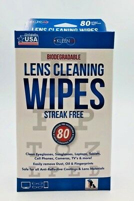 Kleenme Lens Cleaning 80 Wipes Eye Glasses Computer Optical Lens Cleaner