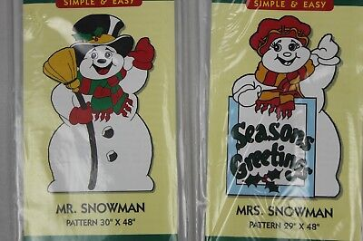 Woodcraft painting yard art do it yourself patterns christmas christmas holiday mr and mrs snowman do it yourself yard art patterns solutioingenieria Images