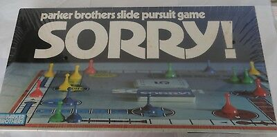 Sorry Board Game Parker Bothers 1972 Vintage brand new (discoloration)