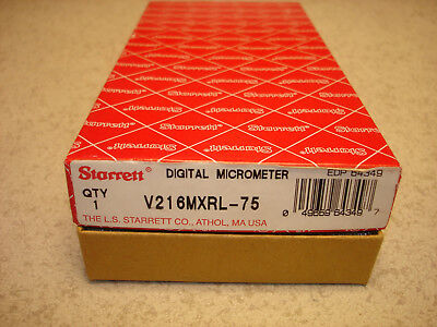 Starrett V216MXRL-75   50mm -75mm  DIGITAL micrometer   New old stock. EDP 64349