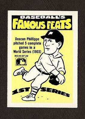 1986 Fleer Baseball Famous Feats Complete Set 22 Cards