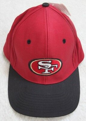 New Logo 7 San Francisco 49ers Red Baseball Hat One Size Fits All Strap Back
