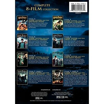 Harry Potter Complete Series Movie Collection 1-8 2 3 4 5 6 7 8 Dvd Disc Box Set