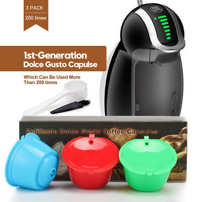 Refillable Reusable Nescafe Dolce Gusto Coffee Capsule Pods Cup Stainless Filter