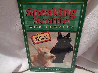 unused pre-owned and stored SPEAKING SCOTTIE with PUZZLES book over 50 puzzles
