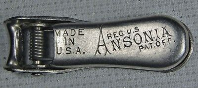 Vintage Ww11 Era Ansonia Clock Parts Advertising Nail Clippers