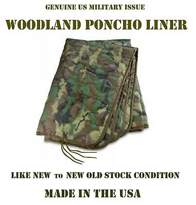 Liner Wet Weather Poncho Camp Blanket Us Military Woobie Woodland Camouflage Ln