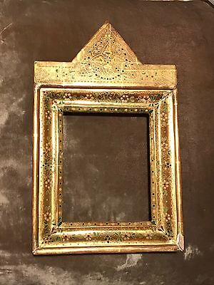 Gorgeous Antique Gilt Frame Hand Painted gesso Neo Gothic Style