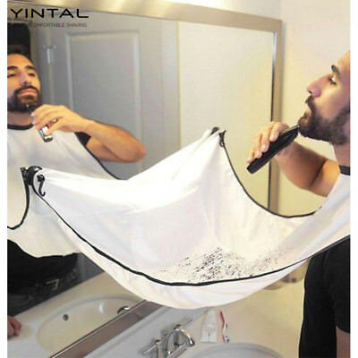 1 PC Beard and Mustache Catcher Apron Cape Bib for shave with Suction Cups