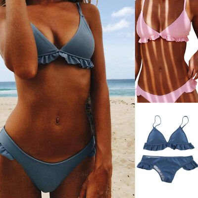 2018 New Women Bandage Push-up Padded Bikini Set Swimwear Swimsuit Bathing Suit