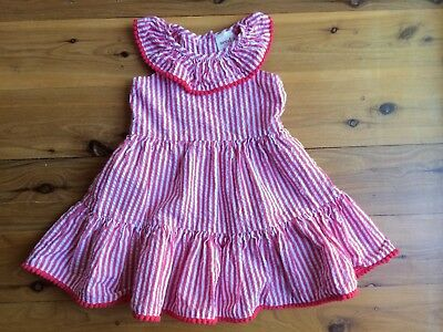 Seed Heritage Red Stripe Dress size 6-12 months, 0