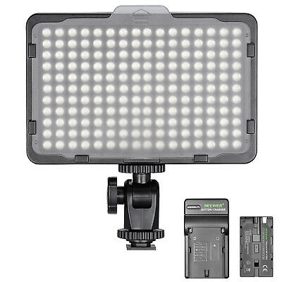 Neewer Dimmable 176 LED Video Light on Camera LED Panel with Battery and Charger