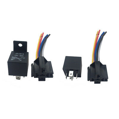 12V 40A AMP 5 SPDT Car Truck Auto with 5 Pin Socket for GPS Lamplight