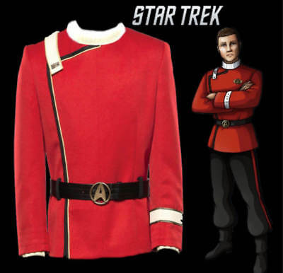 Star Trek II:The Wrath of Khan Starfleet uniform Undershirt Tops Cosplay Costume