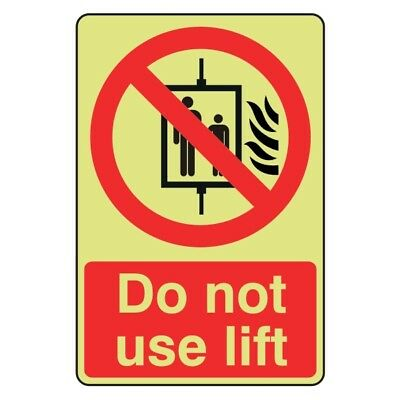 Glow in the Dark Do Not Use Lift Sign
