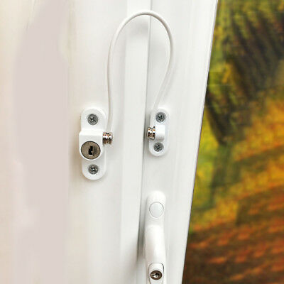 WINDOW DOOR Cable RESTRICTOR Limiter Lock Child Security Chain Wire Locks Alloy : door limiter lock - pezcame.com
