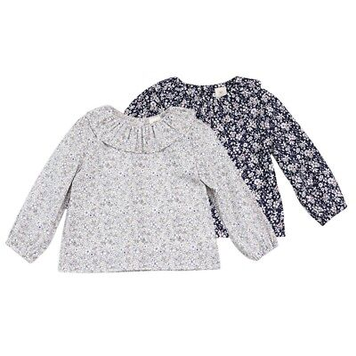 Baby Kids Girls Long Sleeve Cotton Casual Blouse Shirt Tops Floral T-shirt 0-3Y