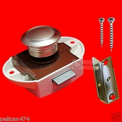 18mm 19m LARGE PUSH BUTTON CATCH rv camper kitchen boat yacht caravan horse box